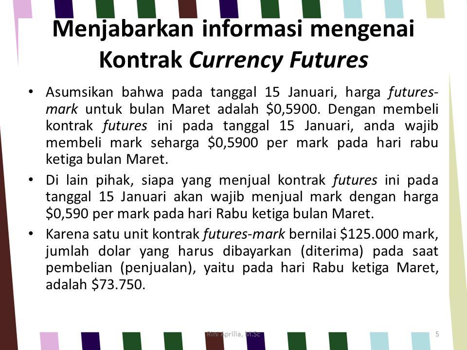 Menjabarkan informasi mengenai Kontrak Currency Futures