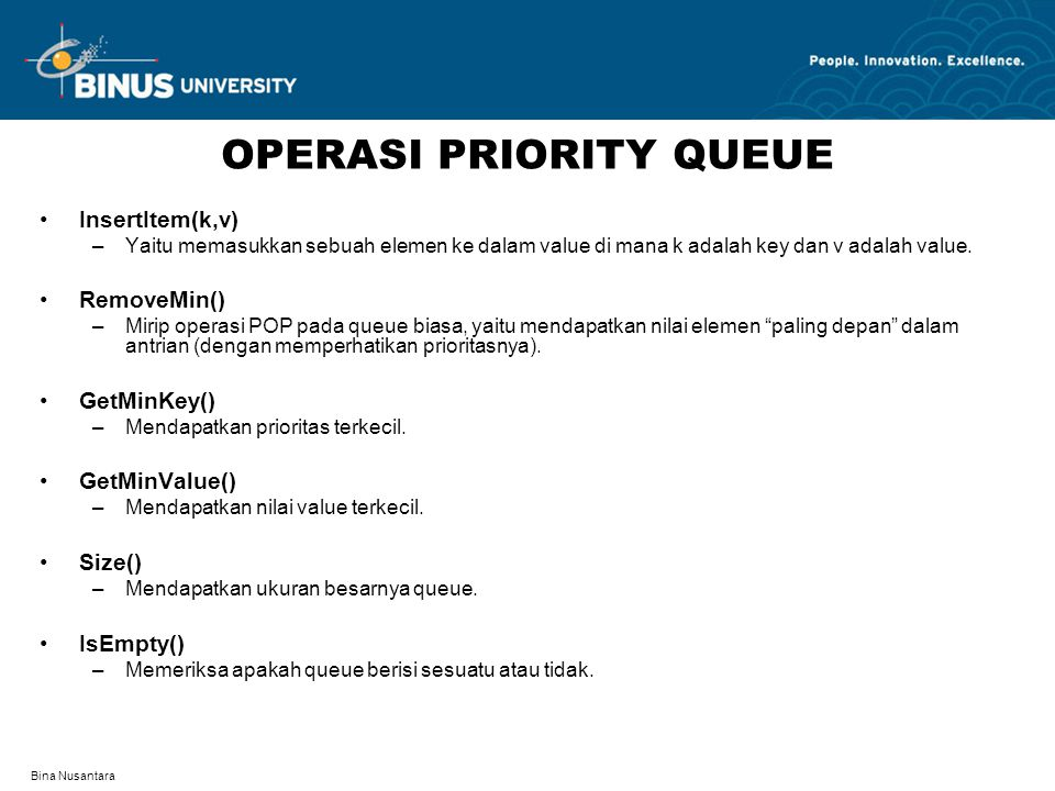 OPERASI PRIORITY QUEUE