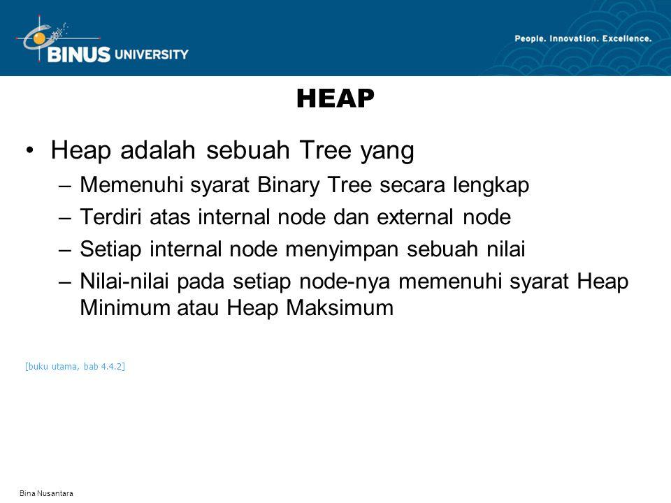 Heap adalah sebuah Tree yang