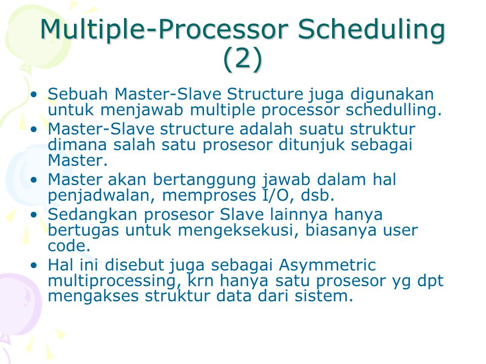 Multiple-Processor Scheduling (2)