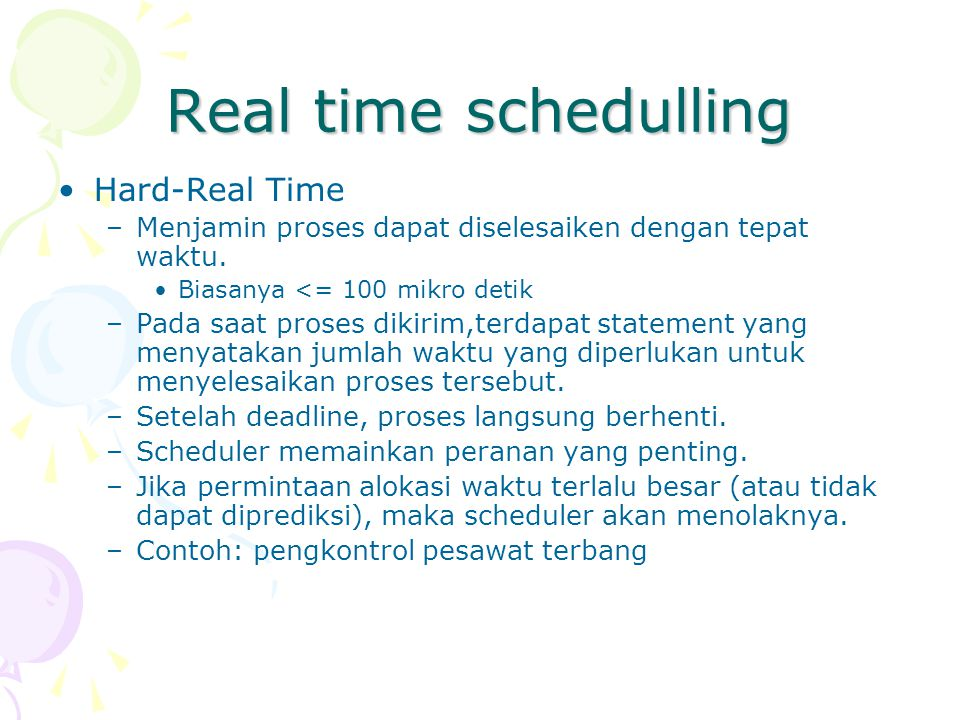 Real time schedulling Hard-Real Time