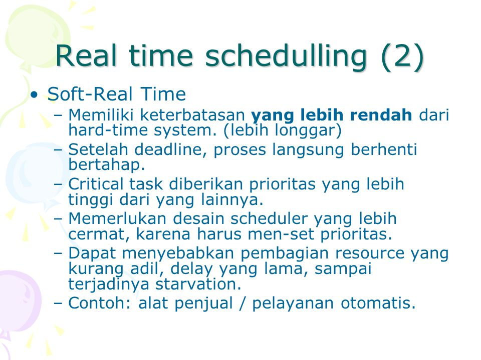 Real time schedulling (2)