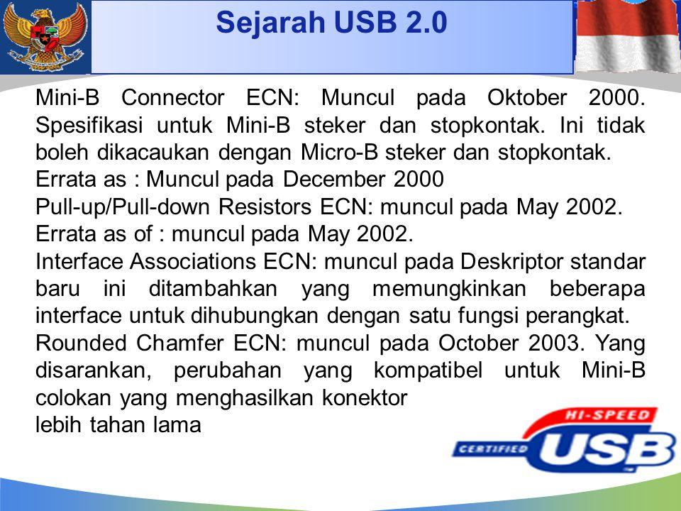 Sejarah USB 2.0 4/14/2017.