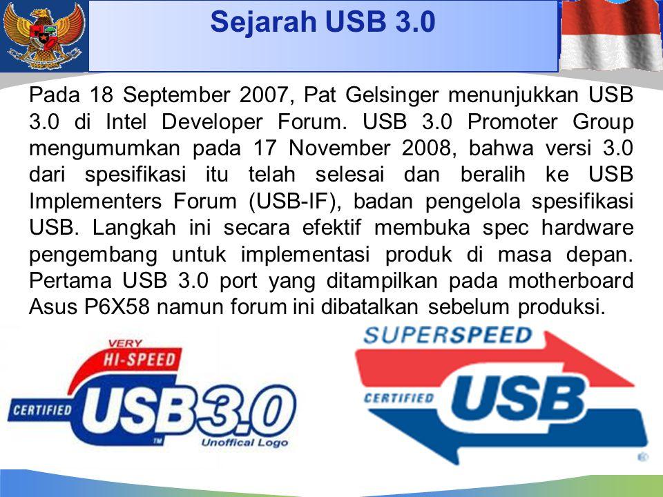 Sejarah USB 3.0 4/14/2017.