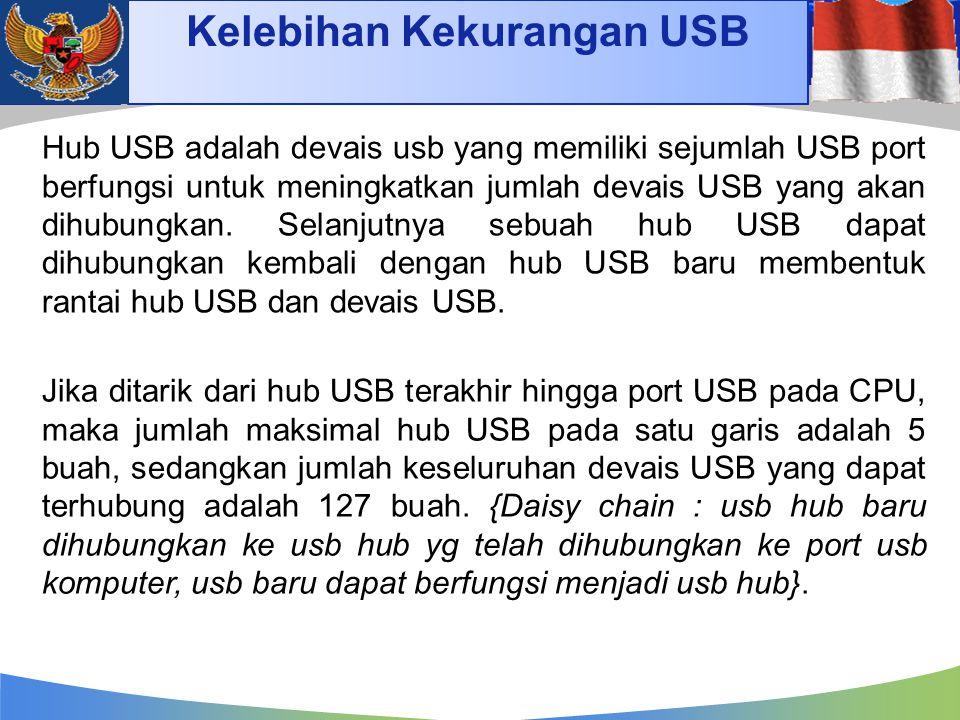 Kelebihan Kekurangan USB