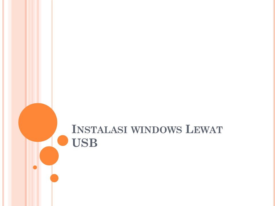 Instalasi windows Lewat USB