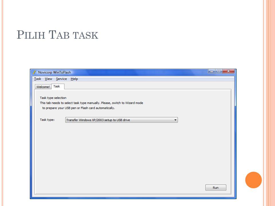 Pilih Tab task