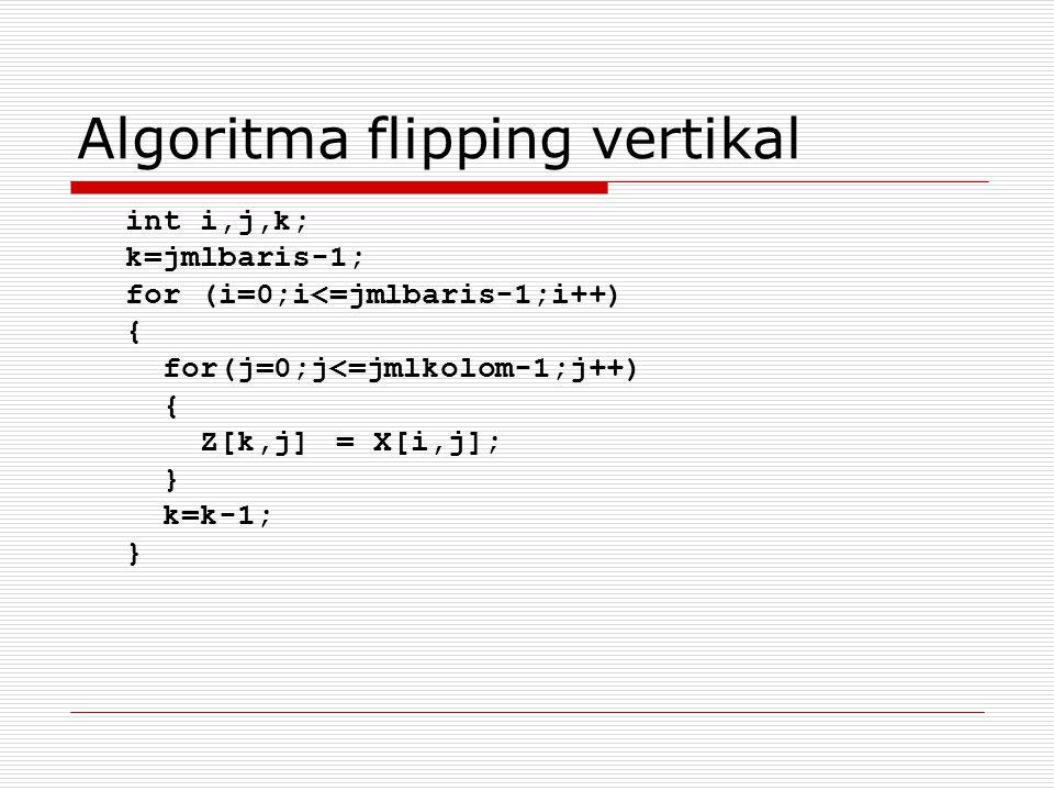 Algoritma flipping vertikal