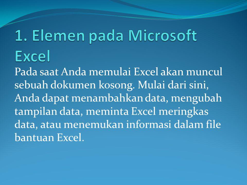 1. Elemen pada Microsoft Excel
