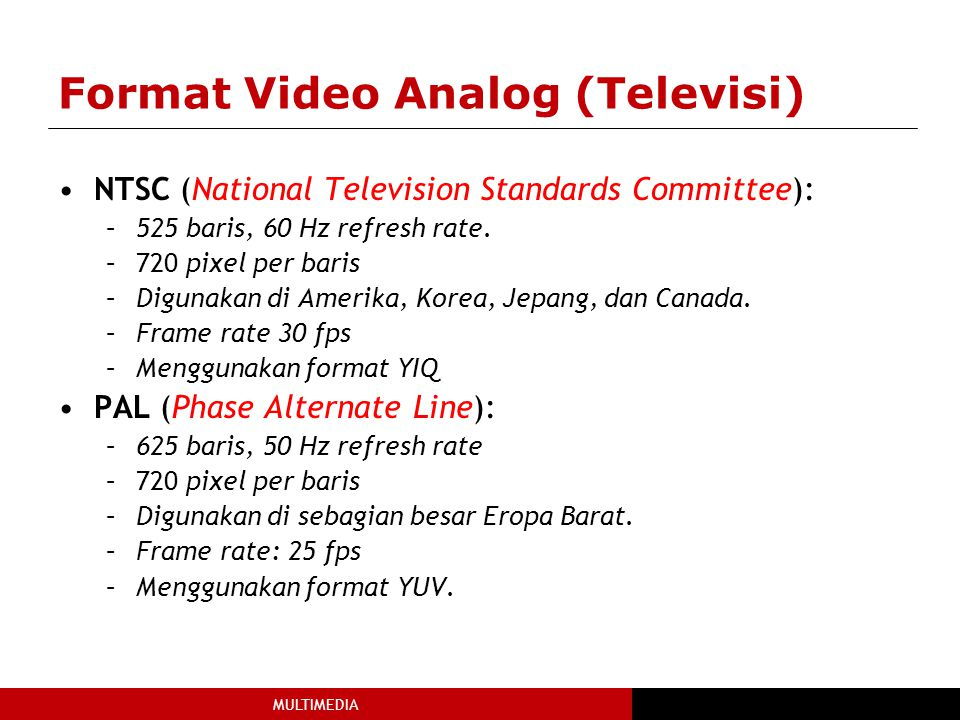 Format Video Analog (Televisi)