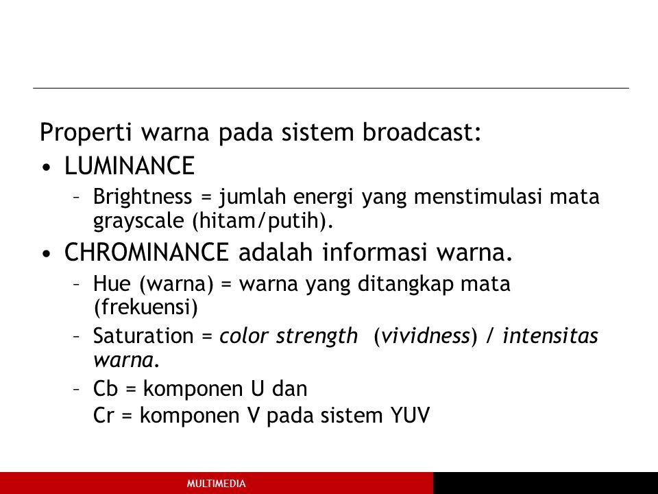 Properti warna pada sistem broadcast: LUMINANCE