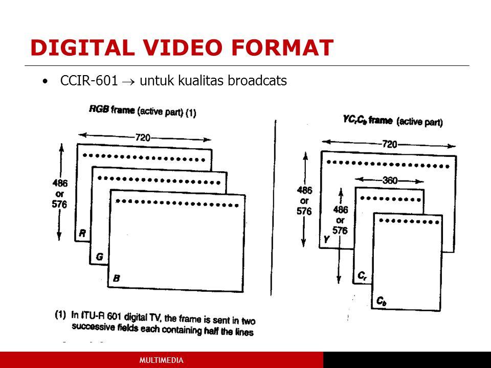 DIGITAL VIDEO FORMAT CCIR-601  untuk kualitas broadcats