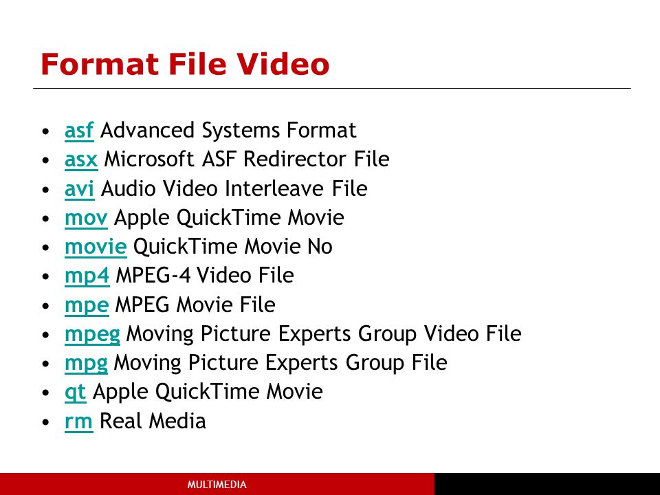 Format File Video asf Advanced Systems Format