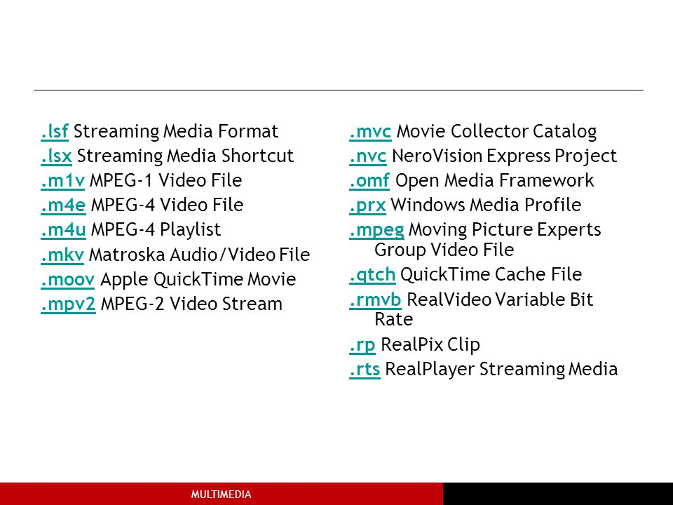.lsf Streaming Media Format