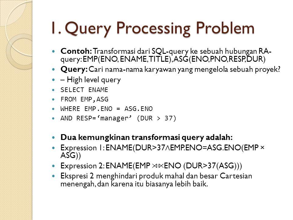 1. Query Processing Problem
