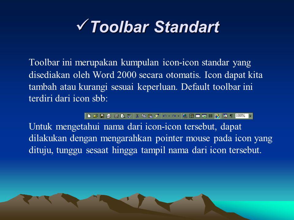 Toolbar Standart