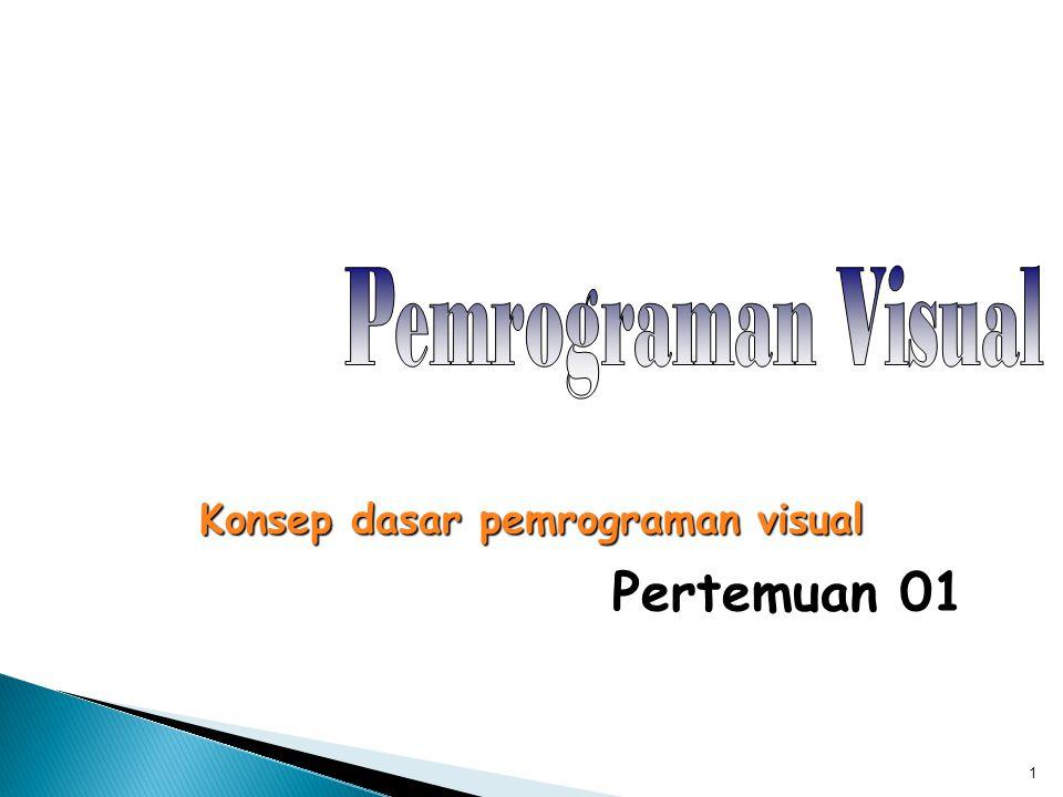 Konsep dasar pemrograman visual