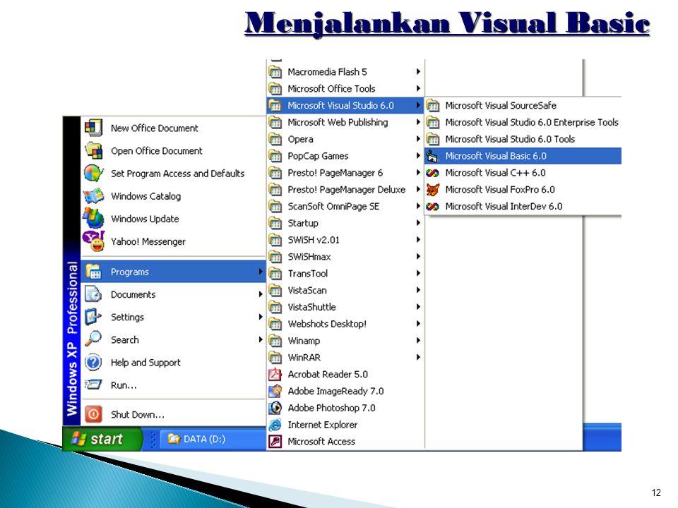Menjalankan Visual Basic