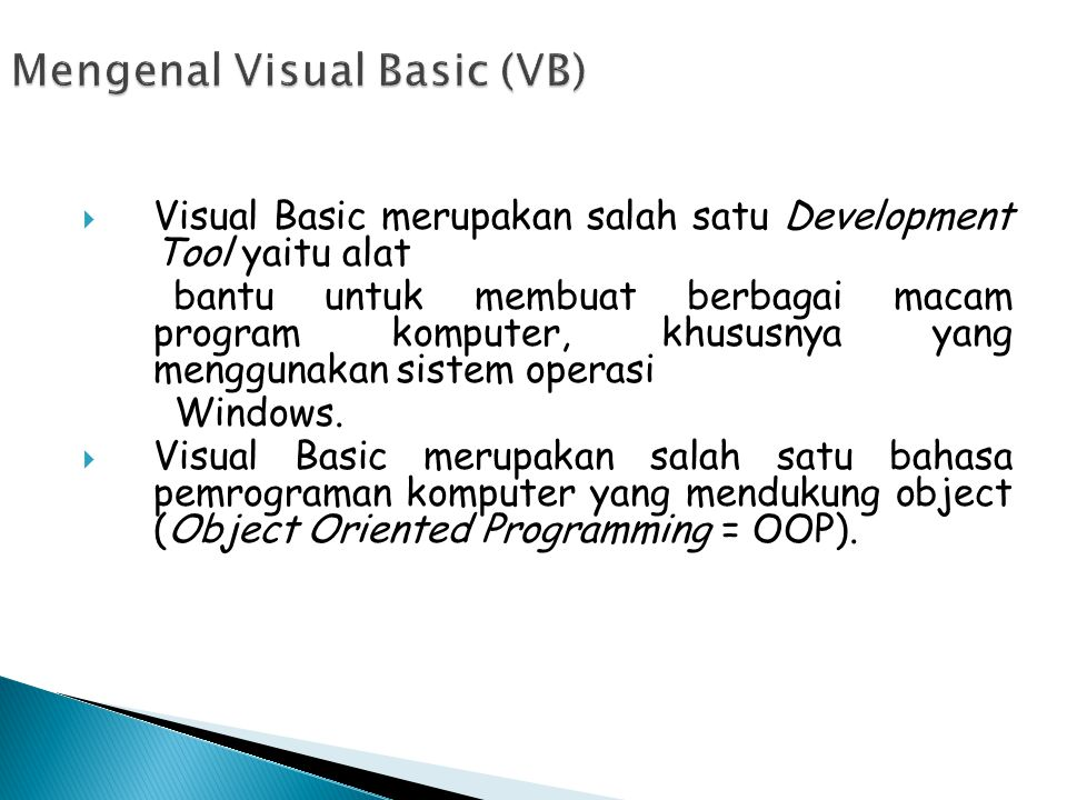Mengenal Visual Basic (VB)