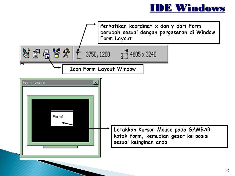 Icon Form Layout Window