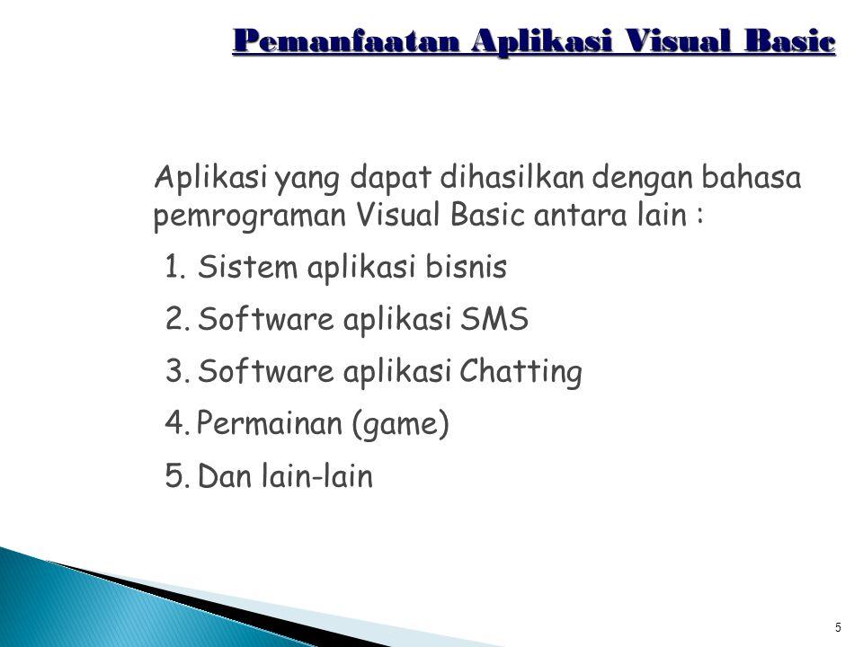 Pemanfaatan Aplikasi Visual Basic