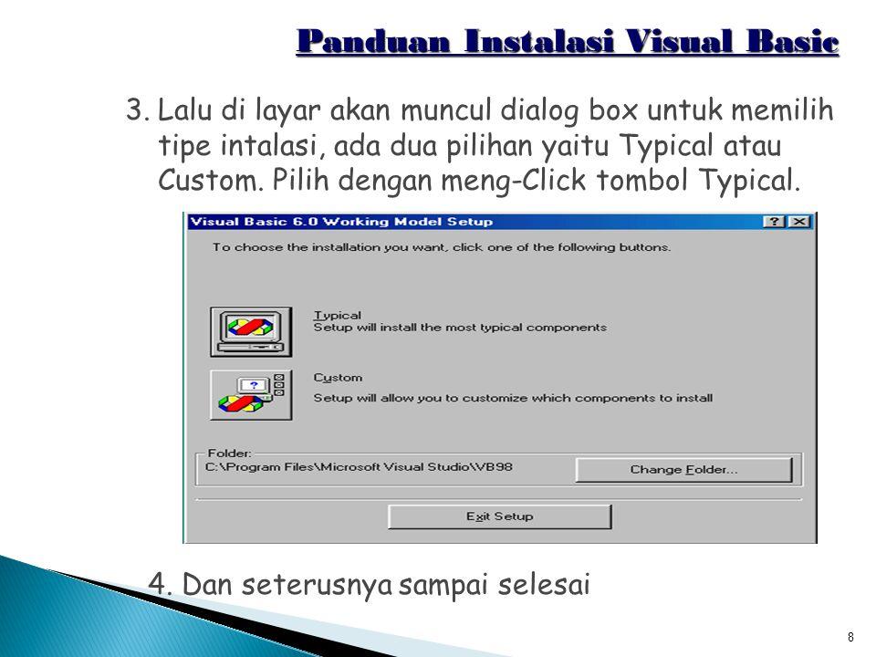 Panduan Instalasi Visual Basic