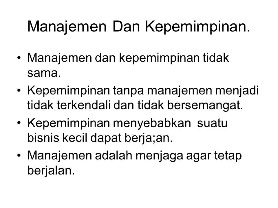 Manajemen Dan Kepemimpinan.