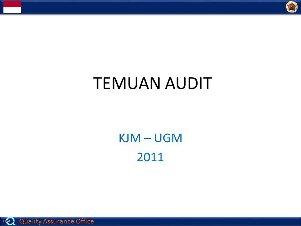 TEMUAN AUDIT KJM – UGM 2011