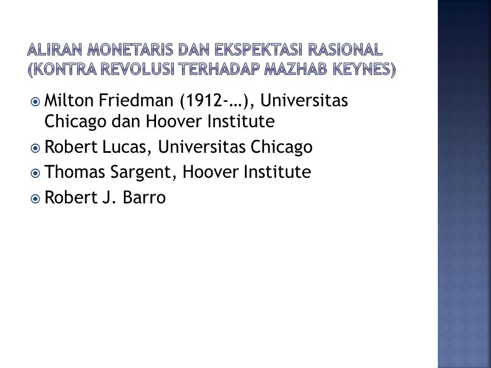 Milton Friedman (1912-…), Universitas Chicago dan Hoover Institute