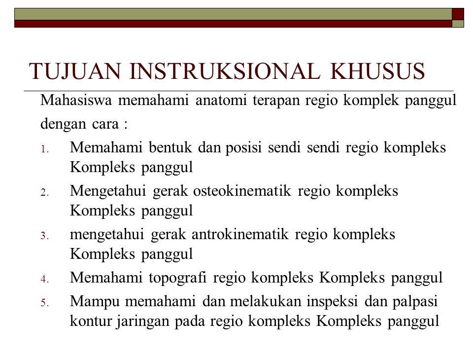 TUJUAN INSTRUKSIONAL KHUSUS