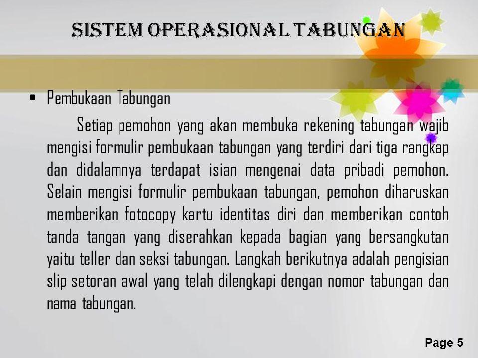 Sistem operasional tabungan