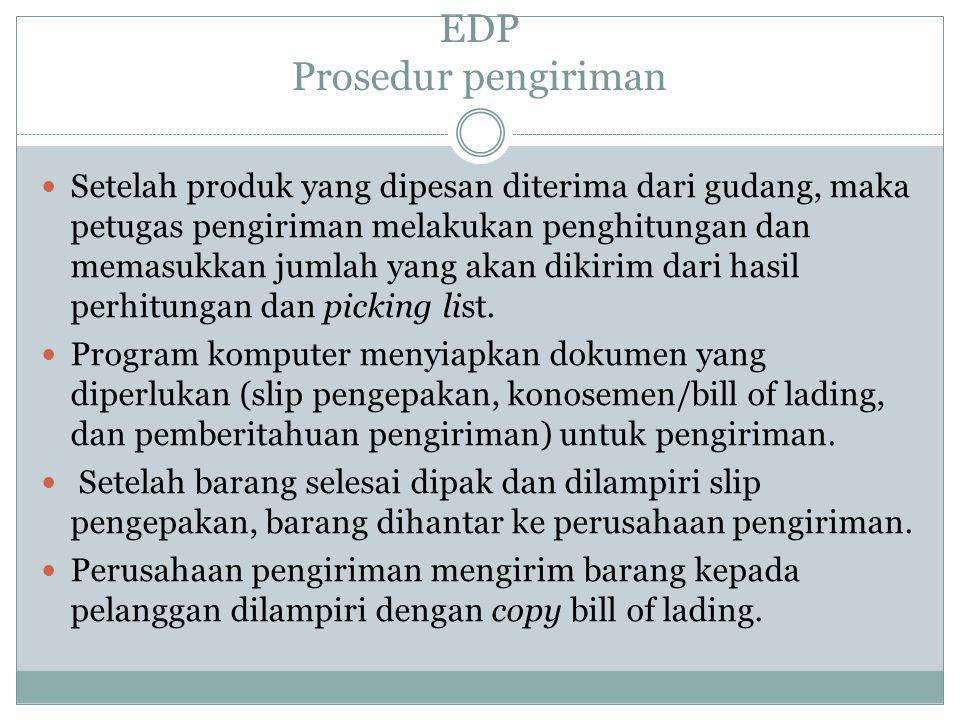 EDP Prosedur pengiriman