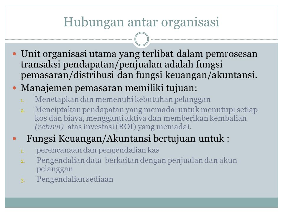 Hubungan antar organisasi