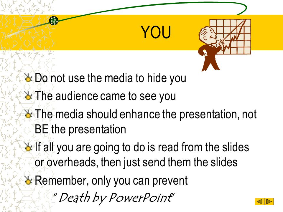 YOU Do not use the media to hide you The audience came to see you