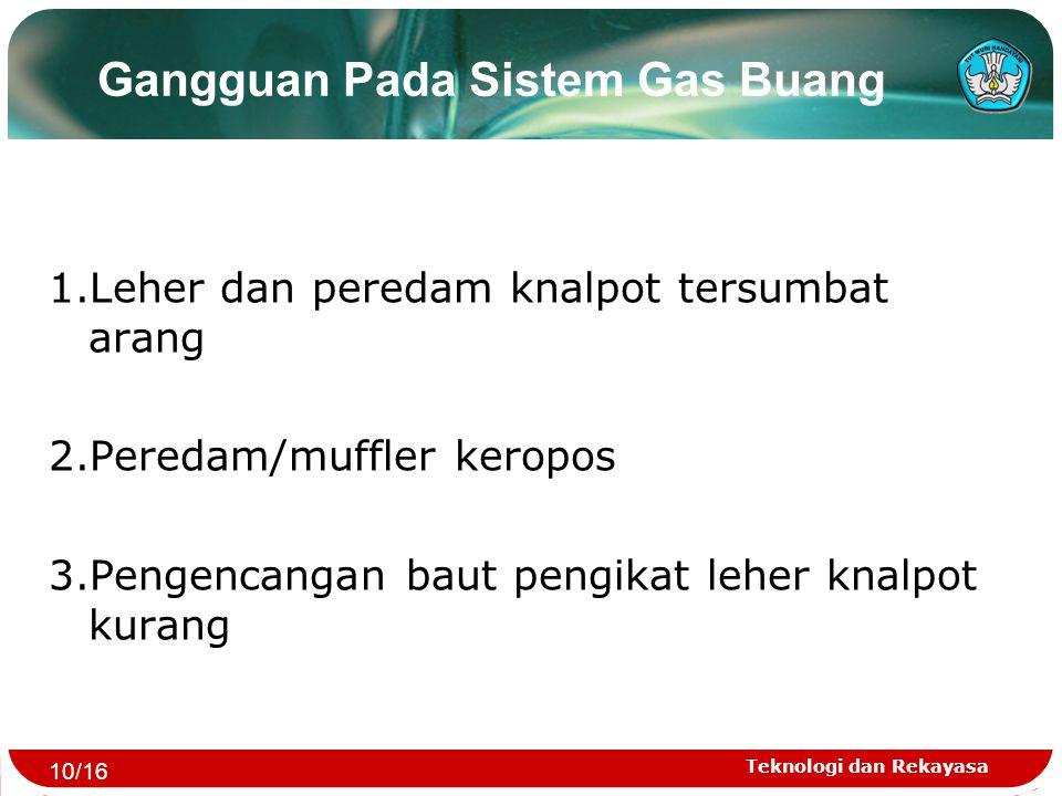 Gangguan Pada Sistem Gas Buang