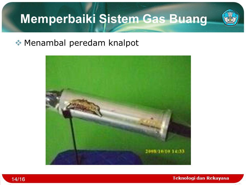 Memperbaiki Sistem Gas Buang