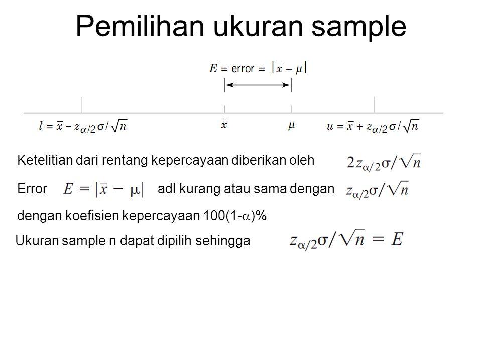 Pemilihan ukuran sample