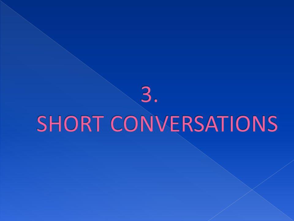 3. SHORT CONVERSATIONS