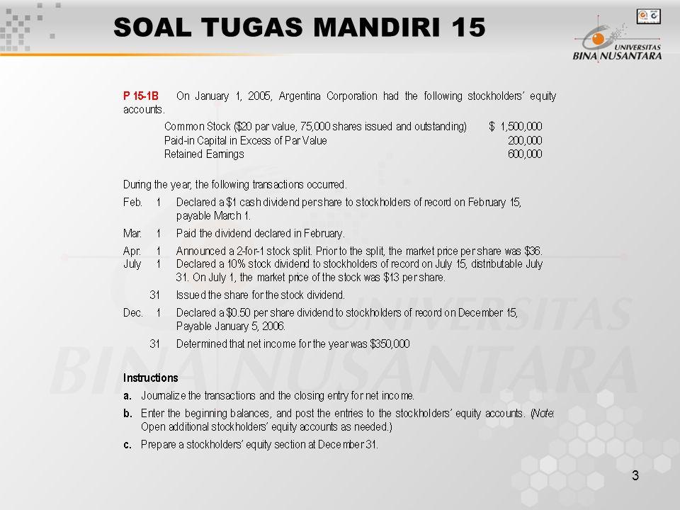 SOAL TUGAS MANDIRI 15