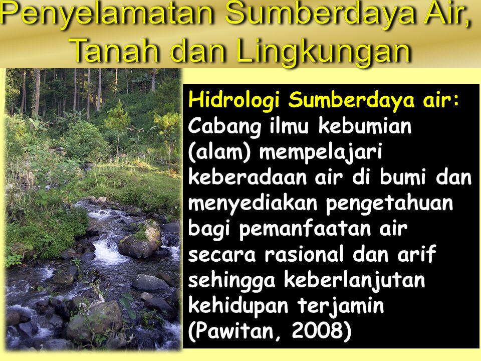 Penyelamatan Sumberdaya Air,