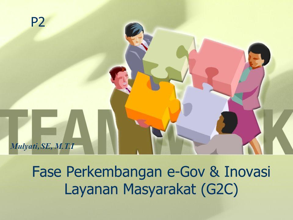 Fase Perkembangan e-Gov & Inovasi Layanan Masyarakat (G2C)