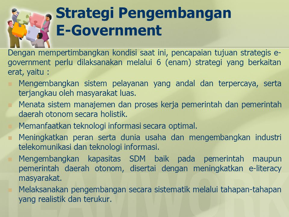 Strategi Pengembangan E-Government