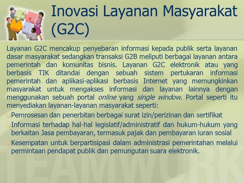 Inovasi Layanan Masyarakat (G2C)