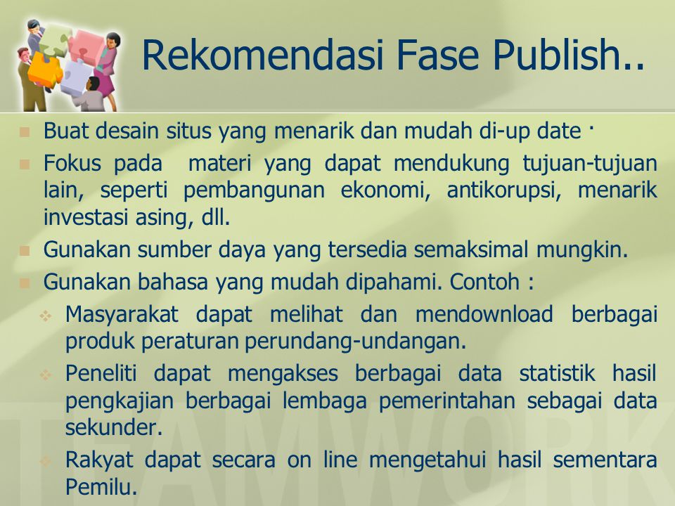 Rekomendasi Fase Publish..