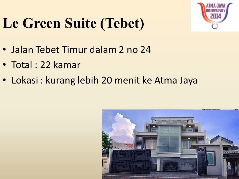 Le Green Suite (Tebet) Jalan Tebet Timur dalam 2 no 24