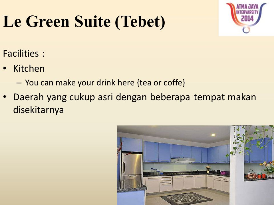 Le Green Suite (Tebet) Facilities : Kitchen