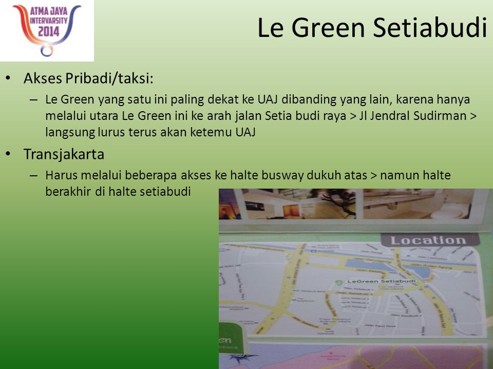 Le Green Setiabudi Akses Pribadi/taksi: Transjakarta