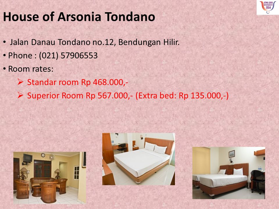 House of Arsonia Tondano