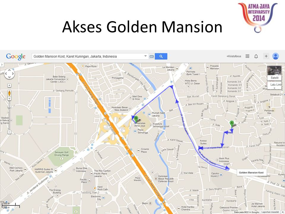 Akses Golden Mansion
