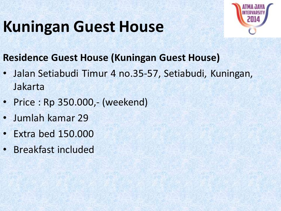 Kuningan Guest House Residence Guest House (Kuningan Guest House)